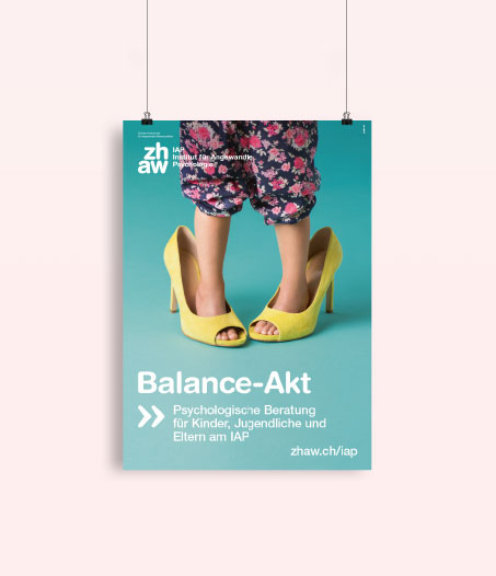 ZHAW IAP Kampagne Art Direction Print