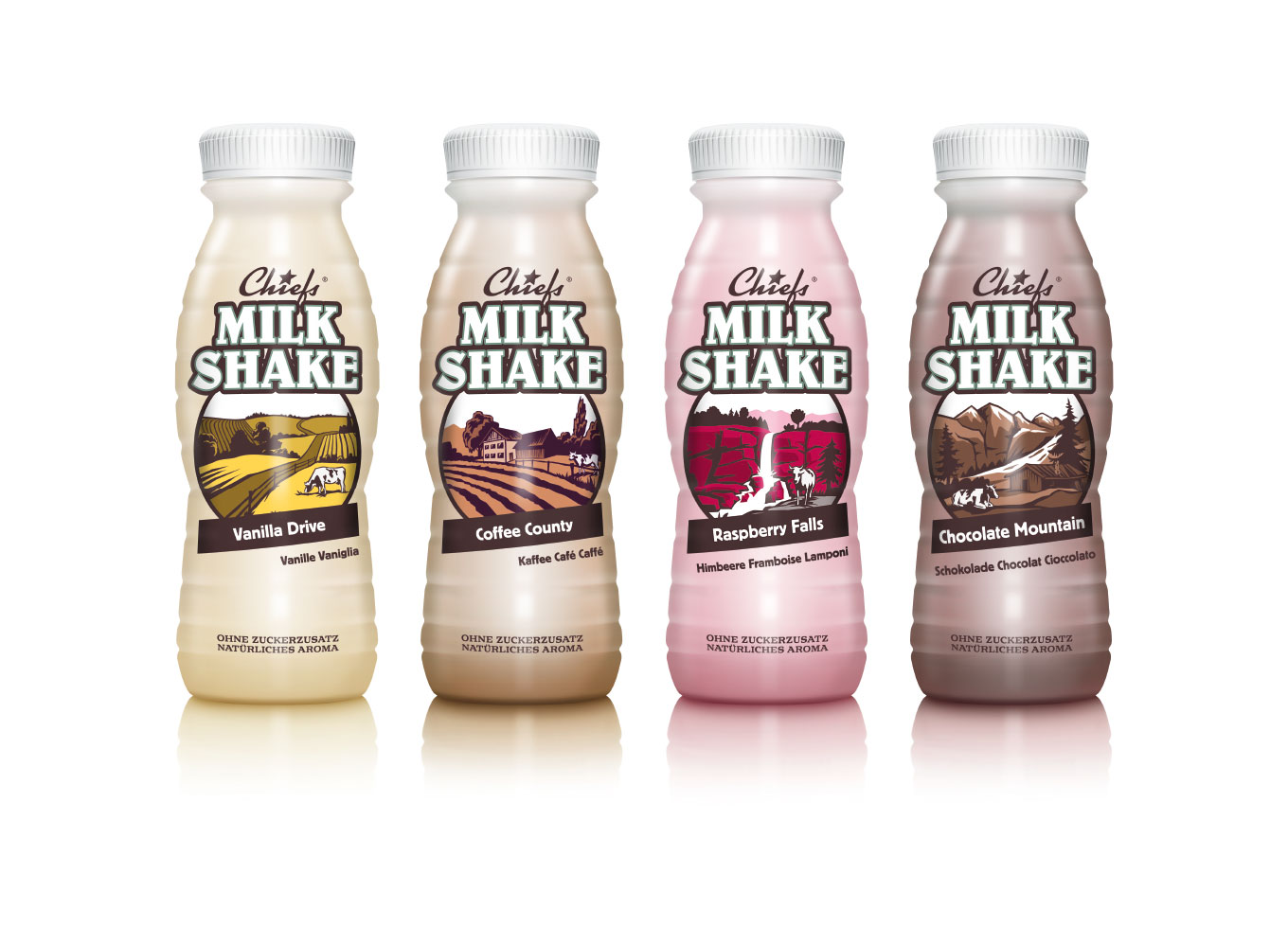 Chiefs Milkshakes Packaging