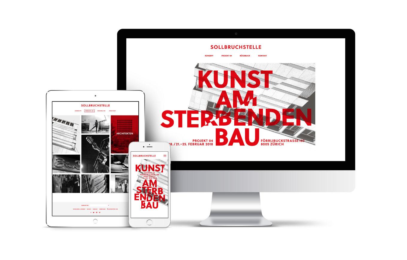 Sollbruchstelle Responsive Website