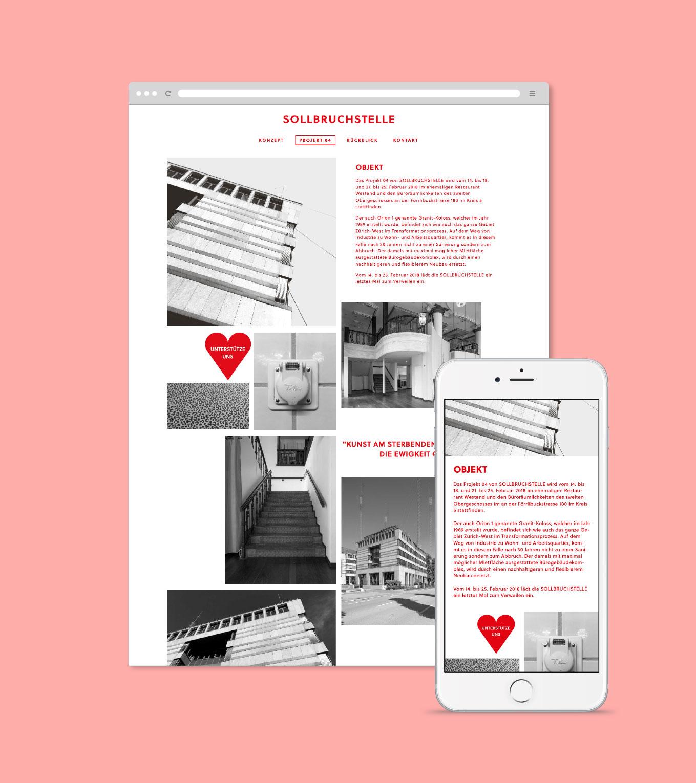 Sollbruchstelle Responsive Website Detail