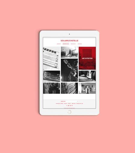 Webauftritt und Design für Sollbruchstelle Kunstprojekt