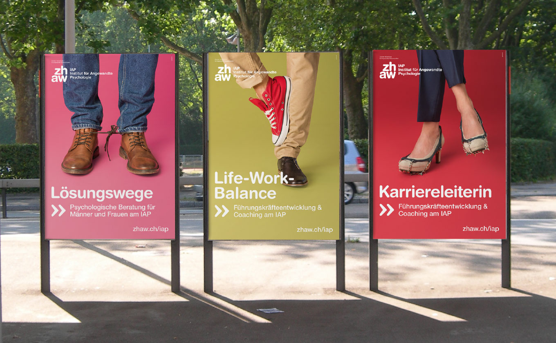 ZHAW IAP Kampagne Art Direction Print