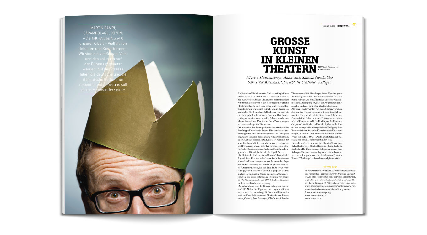Sudtirol Magazin Editorial Design Marion Kaehler Grafik Design
