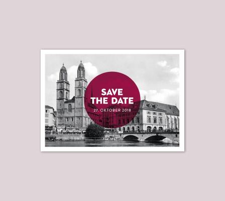 Save the Date Karte für Hochzeit 2018