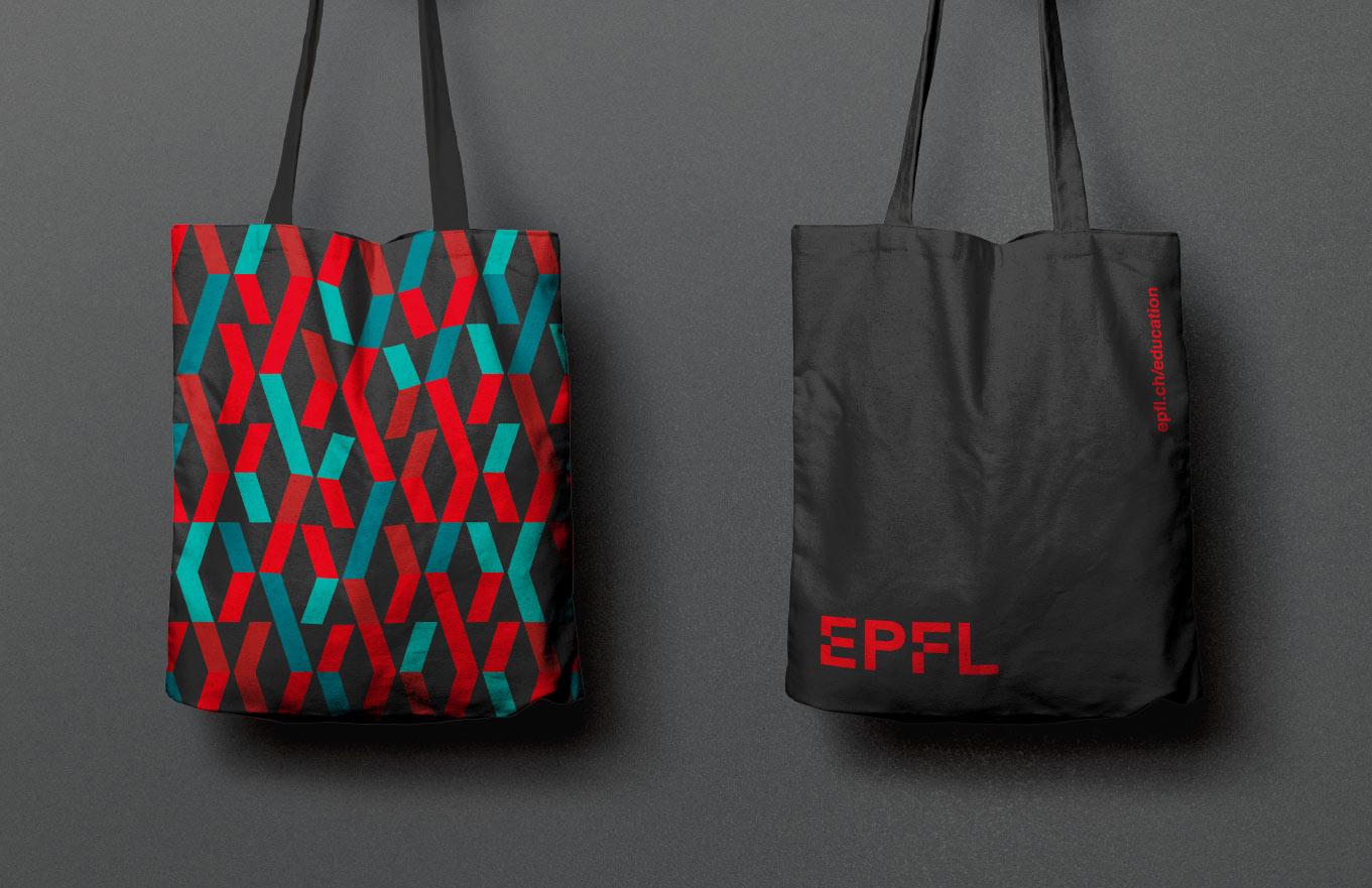EPLF Tote Bag Siebdruck mit Muster