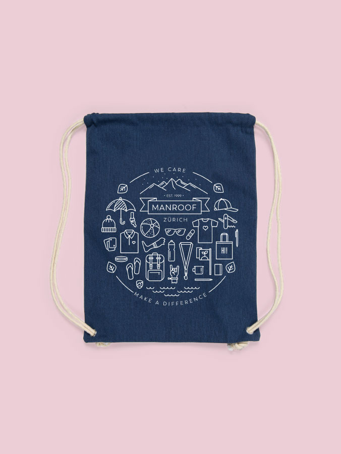Gym Bag Manroof Screenprint
