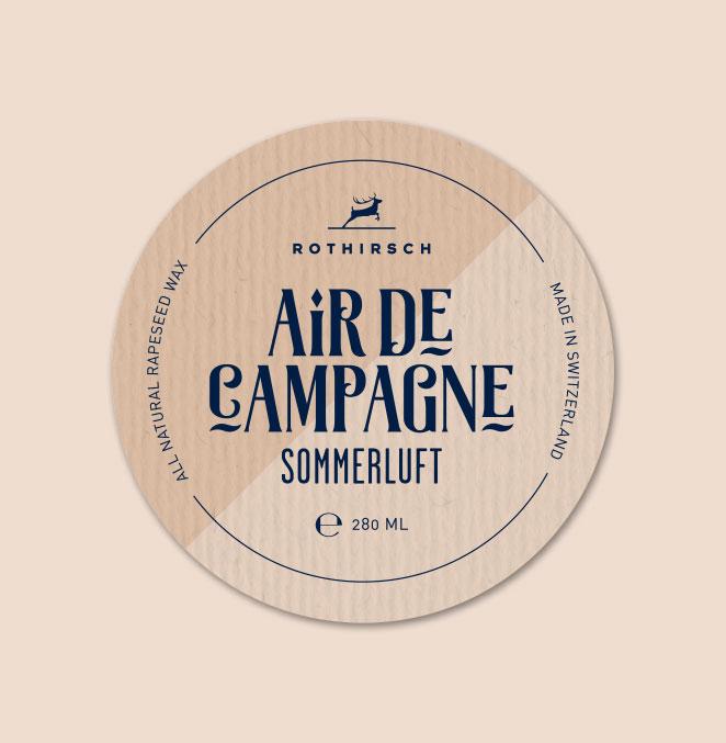 Etikette Kerzen Rothirsch Air De Campagne