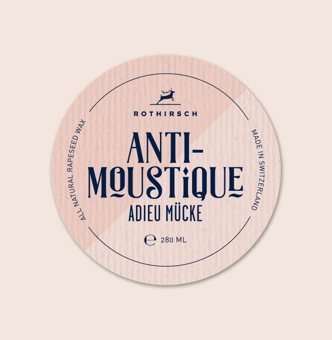 Etikette Kerzen Rothirsch Antimoustique