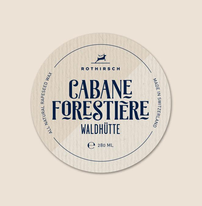 Etikette Kerzen Rothirsch Cabane Forestiere