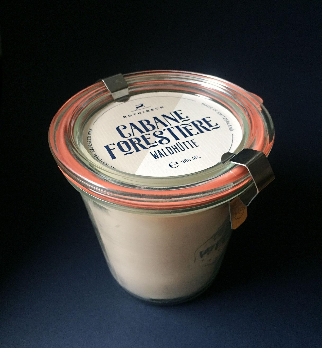 Kerzen Rothirsch Packaging